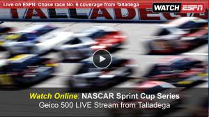 Watch NASCAR Geico 500 Online Free Live Video Stream of Sprint Cup Series from Talladega